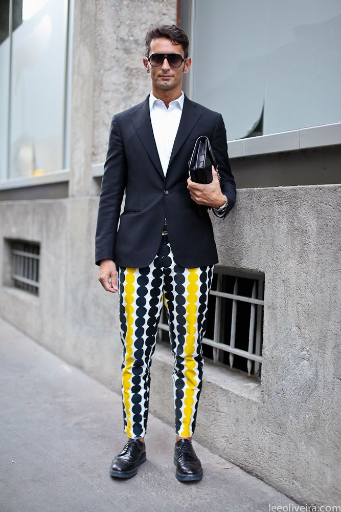 Simone Marchetti is such a style icon! Come Spring, I'll be wearing lots of printed trousers.