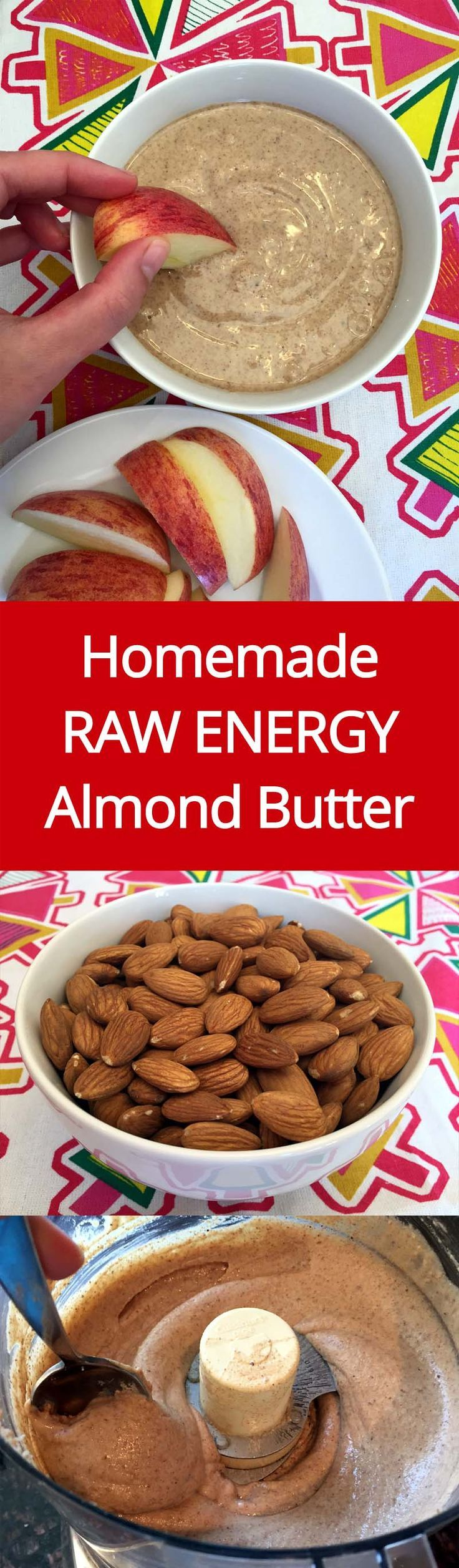 Homemade Almond Butter Recipe - How To Make Raw Organic Almond Butter With Your Food Processor! | MelanieCooks.com
