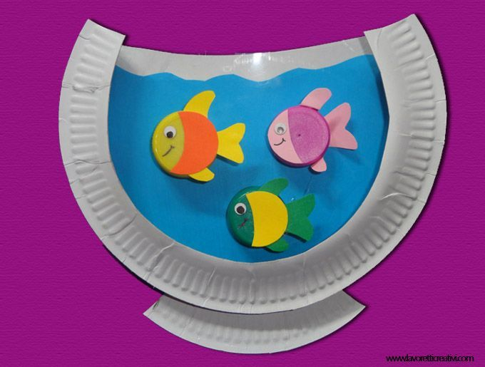 Paper Plate Fish Aquarium Craft