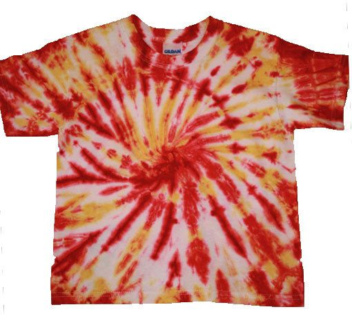 Tie Dyed Gildan Ultra Cotton Youth T-Shirt by HeatherianStudio