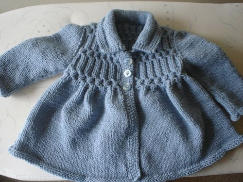 smock-style jacket Toddler 2  by purlingalong, free pattern