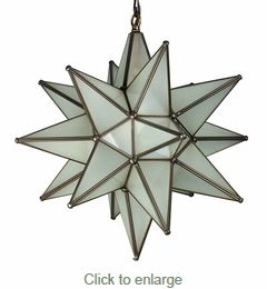 Mexican Frosted Glass Star Light 15. Need to get one for my kitchen / dining space!