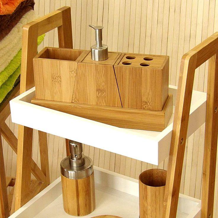 Las 25 mejores ideas sobre cuarto de ba o de bamb en for Accesorios bano bambu