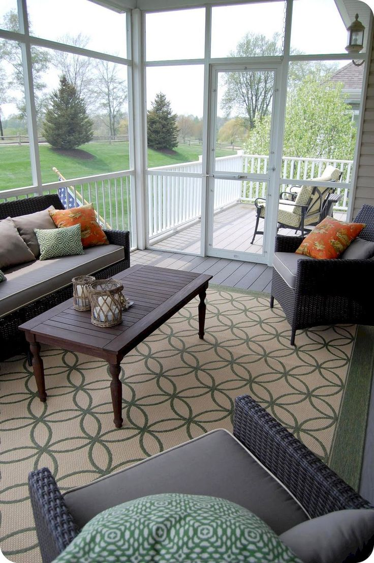 Wonderful Screened In Porch And Deck Idea 38