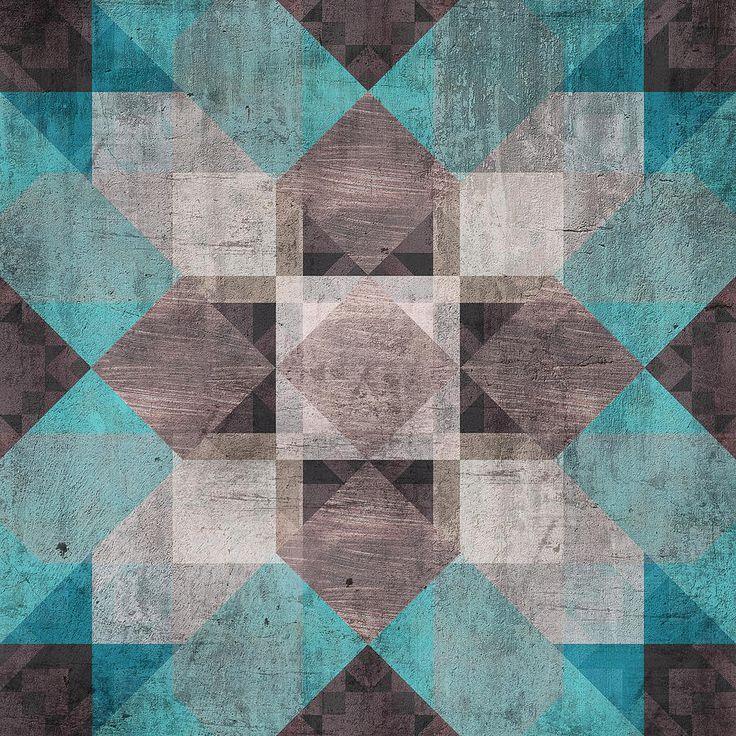 Aqua Brown Quilt Digital Art by Oksana Ariskina #OksanaAriskina #OksanaAriskinaFineArtPhotography #Artworks #FineArtPhotography #HomeDecor #FineArtPrints #FineArtAbstract #Geometry #Quilt #Ornament #Pachwork #AbstractBackgrunds #ArtForSale  #Aqua #Brown #Gray #Print