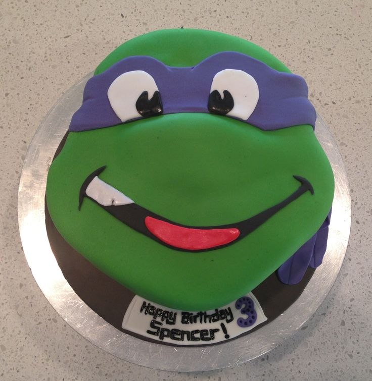 Tmnt Donatello Birthday Cake Ninja Turtle Bday