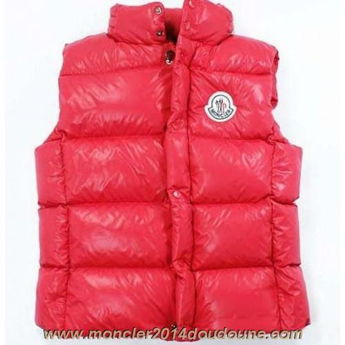 Moncler Down Vest for Men Collar Single-BreaSted Red Sale