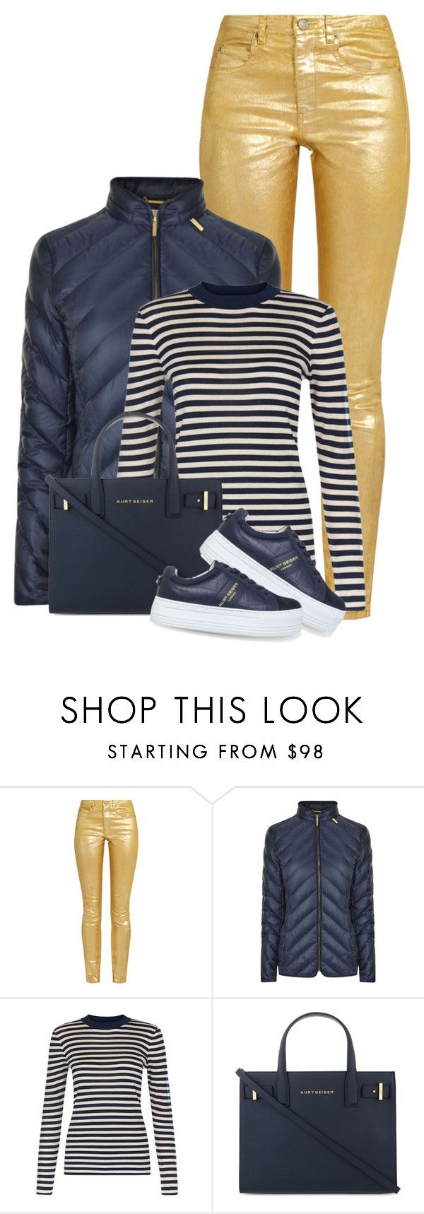 """""""Kurt Geiger Tote & Sneakers"""" by seahag2903 ❤ liked on Polyvore featuring Étoile Isabel Marant, MICHAEL Michael Kors, Hobbs and Kurt Geiger"""