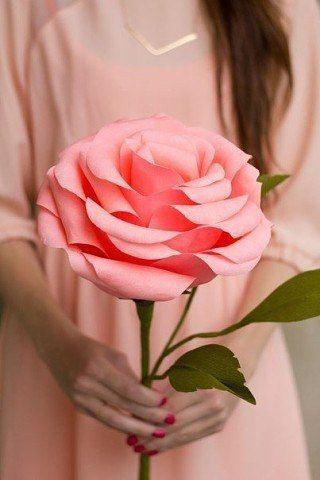 Solche Große Blumen Aus Papier Basteln Kann Jeder Hier Ist Anleitung Dafür Schauen Sie Mal An Und Machen Einfach Mit Paper Flowers