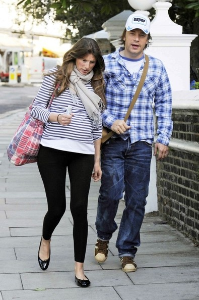 Jamie Oliver Photo - Jamie Oliver and His Wife at the Portland Hospital