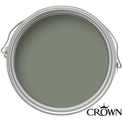 Crown Fashion For Walls Tuscan Olive - Indulgence Matt Emulsion Paint - this rich olive green adds a tranquil and calm feel to any room in the home