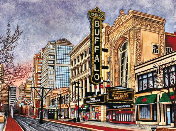 cityscape ~ Shea's Buffalo, Buffalo NY by Thelma Winter ...