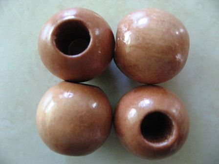 Wood Beads - 14mm Natural, 24pc pack