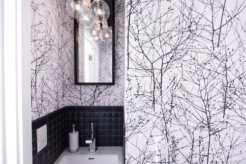 modern powder room by Regan Baker Design