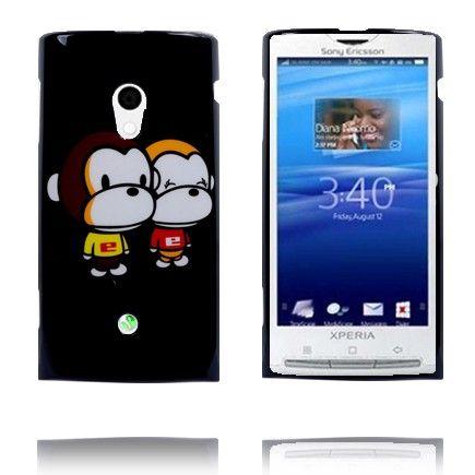 Happy Cartoon (Aper) Sony Ericsson Xperia X10 Deksel