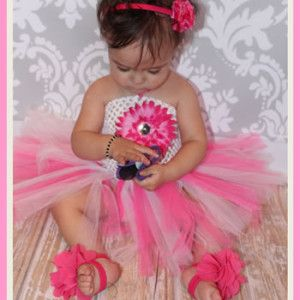 Baby Daisy Princess Tutu R160 www.babyheadbands.co.za www.mybabyheadbands.com