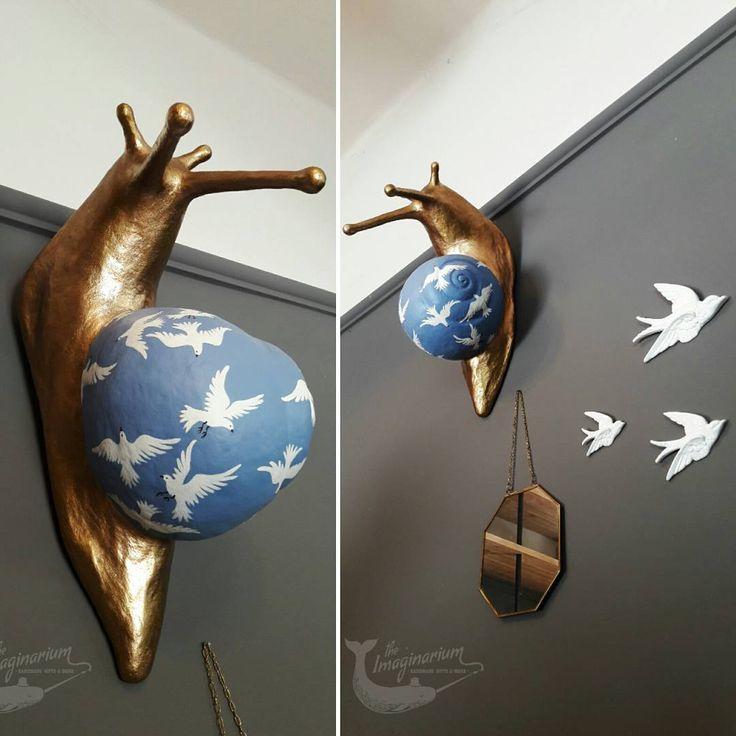 """44 """"Μου αρέσει!"""", 3 σχόλια - The Imaginarium (@theimaginariumkos) στο Instagram: """"""""The snail who wanted to be a bird"""".... Have a nice weekend! #snail #sculpture #walldecor…"""""""