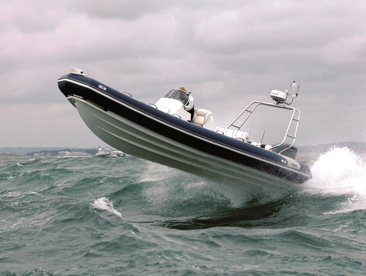 A Rib Boat off the coast of Britain