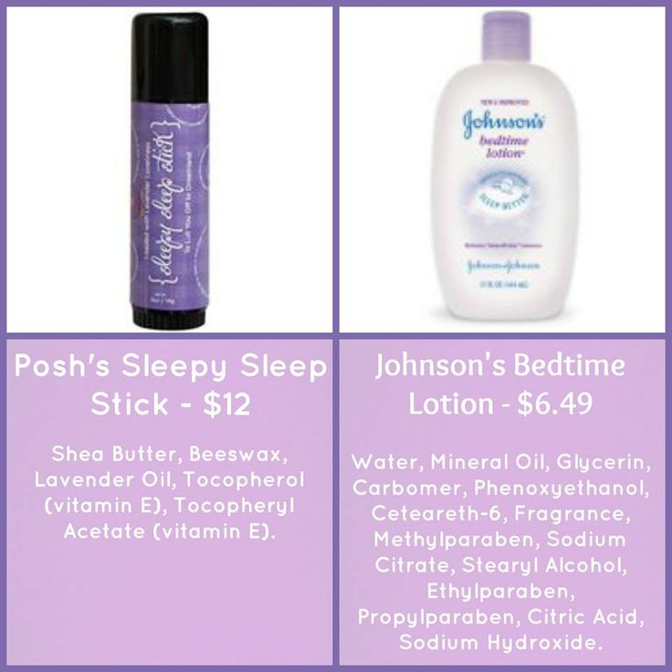 Which would you use on your baby?  The Sleepy Sleep Stick is loaded with lavender essential oil and shea butter.  Johnson's has tons of stuff including parabens. Order here: https://POSHSPICEEVERYTHINGNICE.po.sh