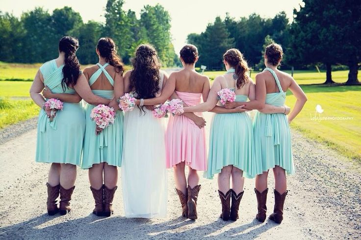 Country, Pink Wedding Bouquets
