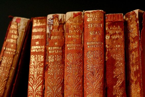 Antique Rudyard Kipling antique book collection by cristinasroom.