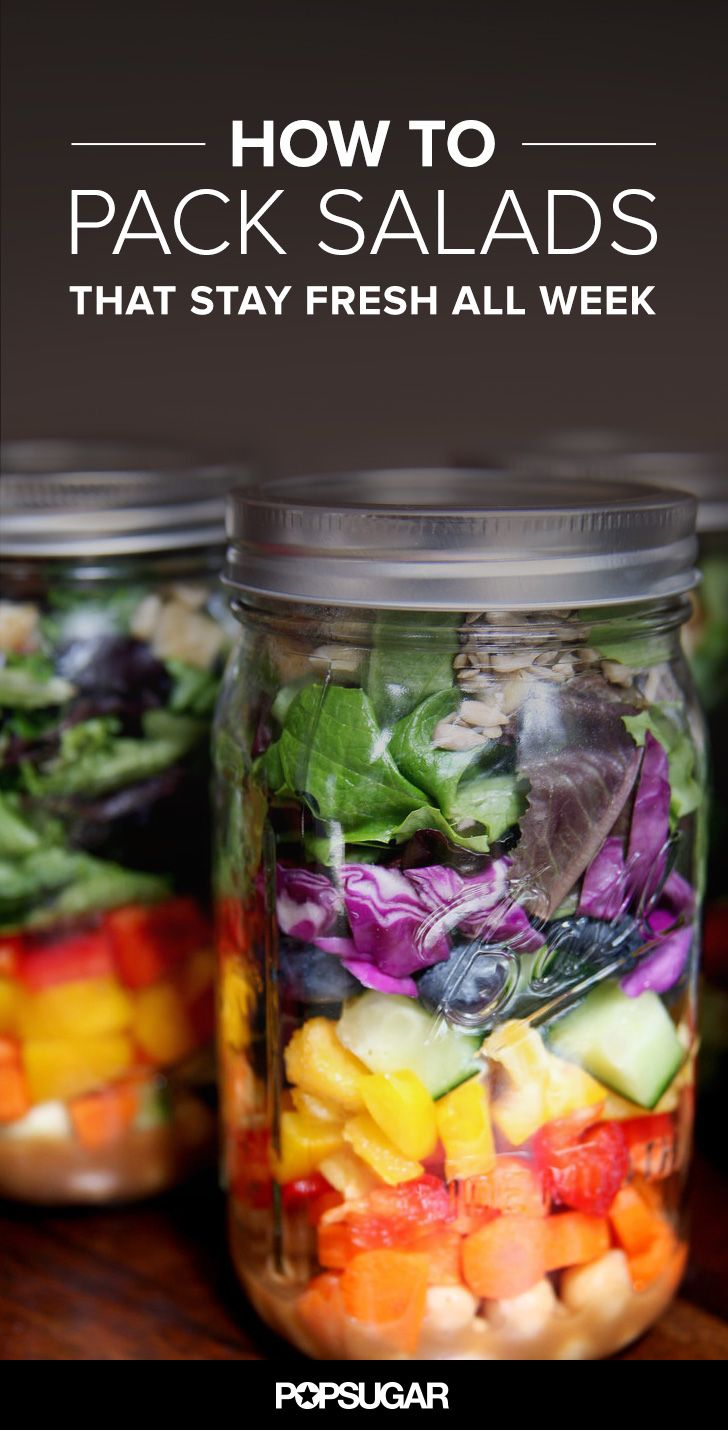 How to Pack Salads So They're Fresh All Week