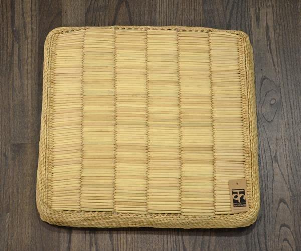 Hand made Meditation Cushion - Water Reed by kaarigar made in India