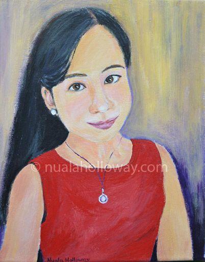 """Portrait of Xianshu"" by Nuala Holloway - Oil on Canvas #IrishArt #PortraitPainting #NualaHolloway"