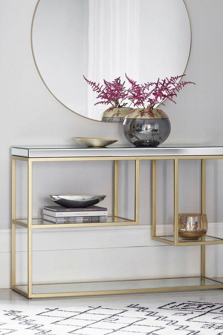 50 Inspiring Console Table Ideas Homyhomee Console Table Living Room Console Table Decorating Decor