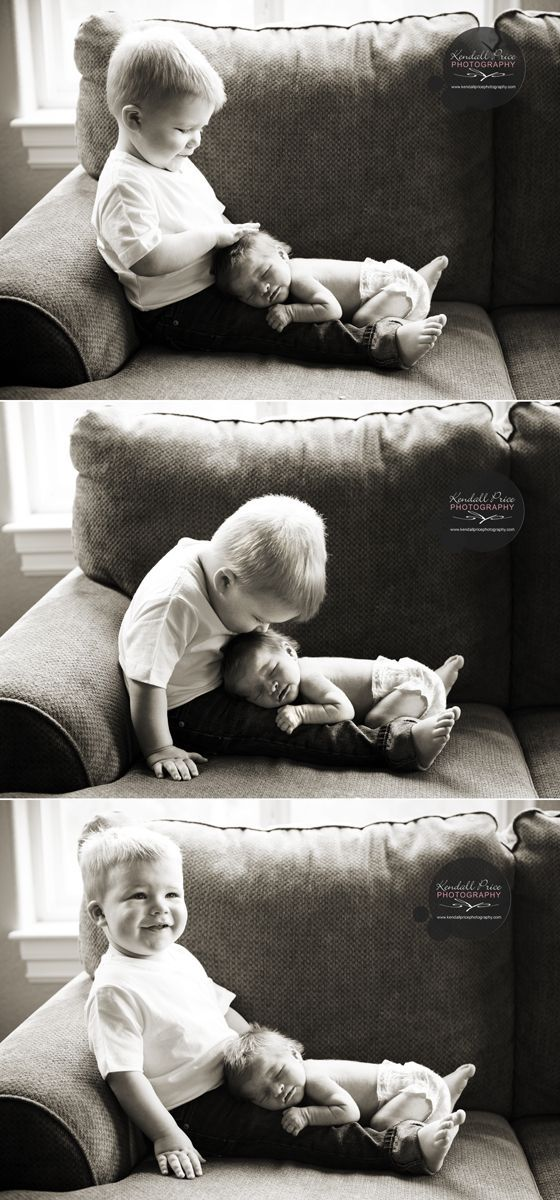 Newborn and Sibling, for when big sibling is still just a toddler. This is such a pretty picture