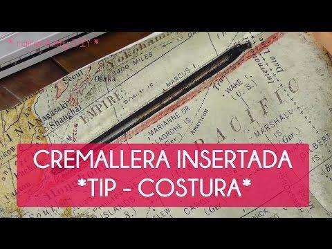 COMO PONER UNA CREMALLERA INSERTADA O DE OJAL Fácil y rápida (Especial para bolsos) - YouTube