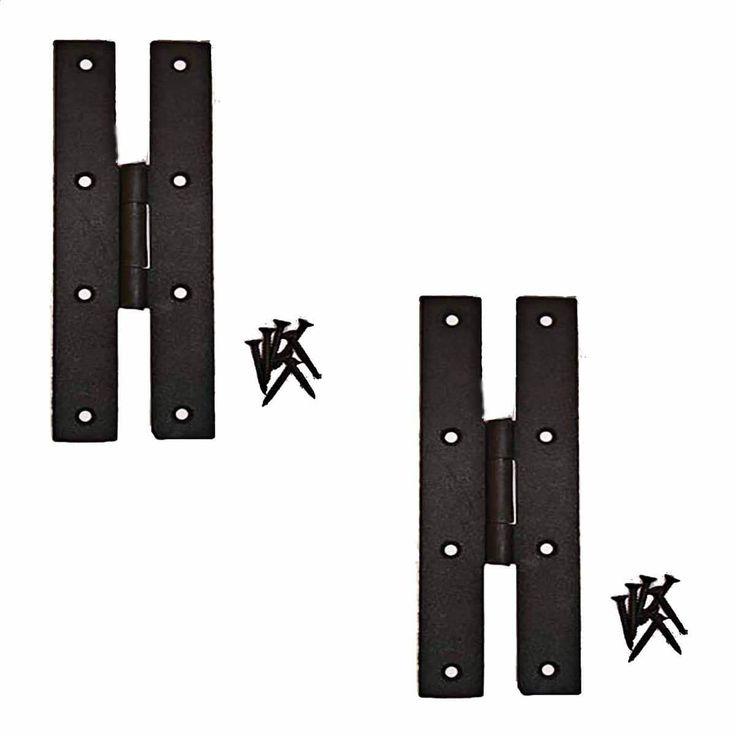 2 Forged Iron Door Flush Hinge H Style 7 H | Renovator's Supply (Renovator's Supply Metal (Grey))