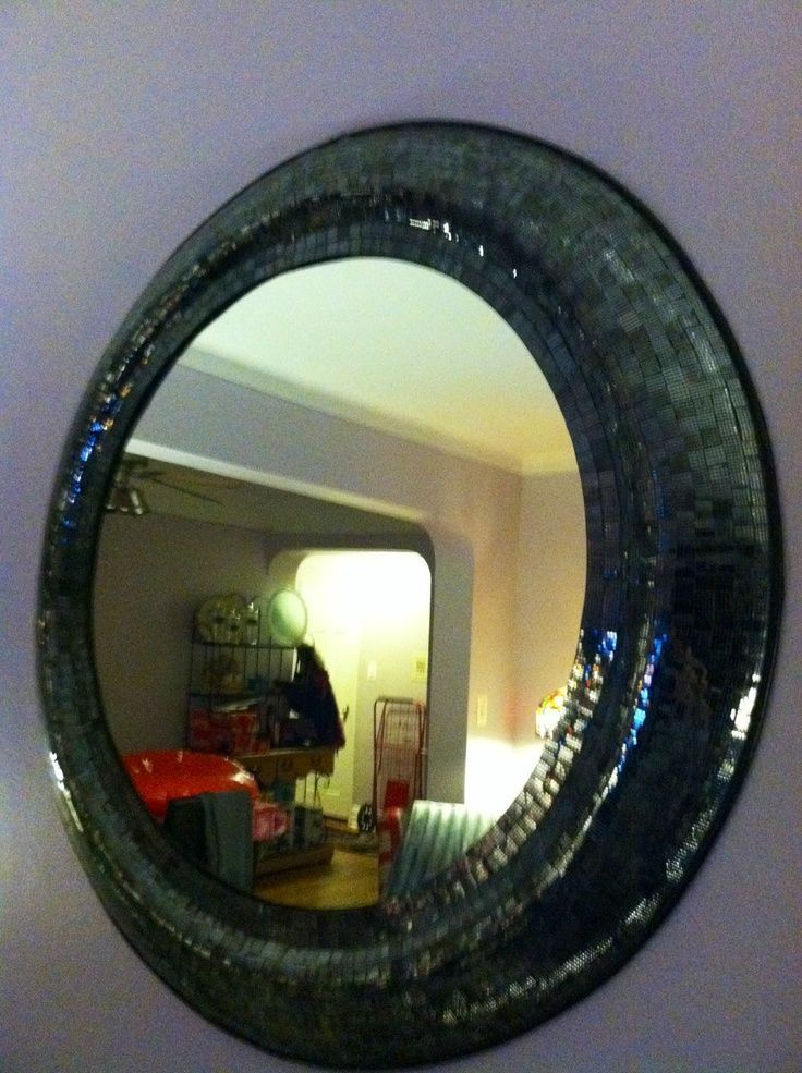 Mosiac mirror above couch – #abovecouch #couch #Mi…