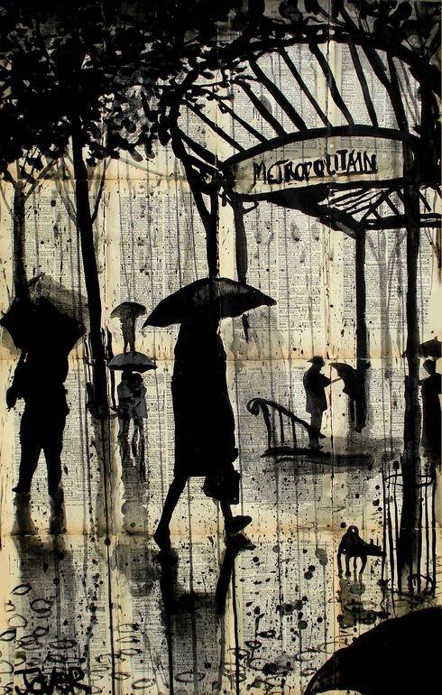 "Loui Jover; Pen and Ink Drawing 'Metropolitain"""