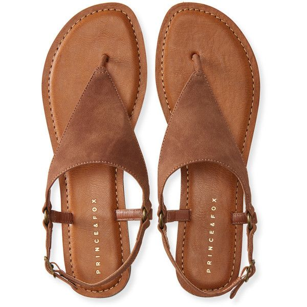 Aeropostale Prince & Fox Triangle O-Ring T-Strap Sandal (23 CAD) ❤ liked on Polyvore featuring shoes, sandals, flats, brown, flat shoes, brown flats, jewel sandals, brown t strap sandals and brown shoes