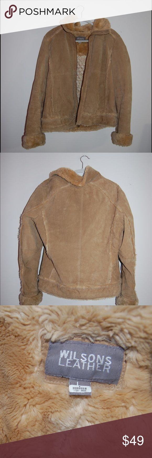 Wilsons leather jacket Good, used condition. Tan. Size 4. Fits like a medium. Wilsons Leather Jackets & Coats