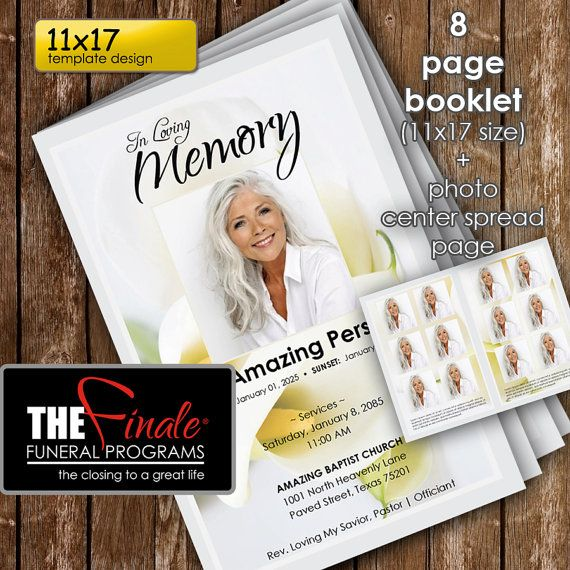 36 best Funeral Program Templates images on Pinterest Microsoft - funeral brochure template