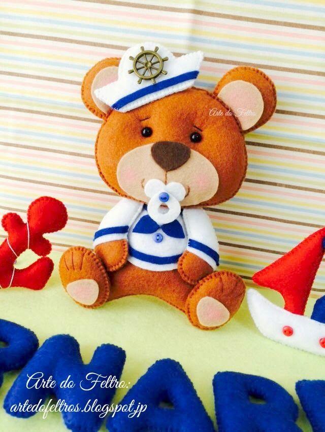 ✿Arte do Feltro✿: Guirlanda do Bernardo ( Usinho Baby Marinheiro)