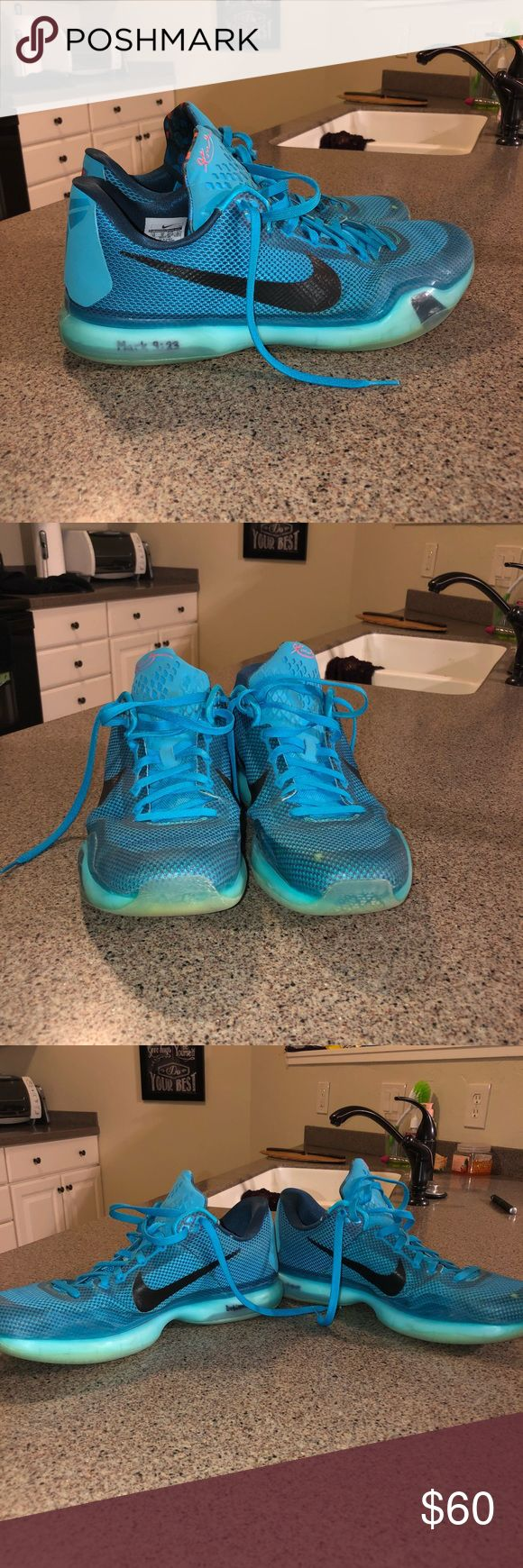 Nike Kobe 10 The original Kobe 10, overall good condition. Tracking is still great. Some rubber is wearing away on the left inside heel, but that doesn't affect the shoe. Nike Shoes Athletic Shoes