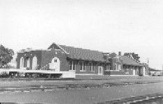 Santa Fe depot in Cushing, OK, July 17, 1975.