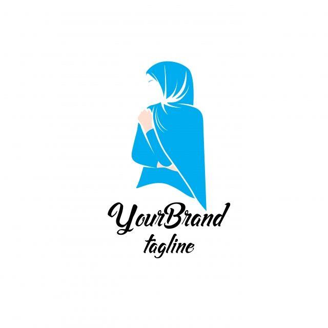 Feminine Fashion Hijab Logo Template Hijab Logo Logo Online Shop Fashion Logo Design Inspiration