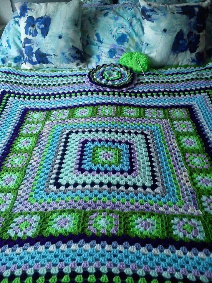 Granny Square Afghan - color inspiration
