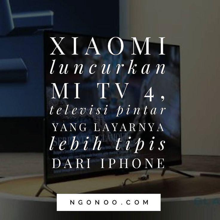 https://ngonoo.com Xiaomi kembali merilis televisi pintar barunya di CES 2017. Televisi bernama Mi TV 4 tersebut hadir dengan 3 ukuran layar yaitu 45 55 dan 65 inci.  Menariknya Mi TV memiliki layar yang sangat tipis yaitu hanya 49mm di bagian tertipisnya atau 30 persen lebih tipis dari iPhone. Mi TV 4 hadir dengan menggunakan sistem operasi khusus yang telah disisipi oleh sistem kecerdasan buatan (AI). Sedangkan untuk antarmukanya Mi TV 4 menggunakan PatchWall UI yang dikatakan memiliki…