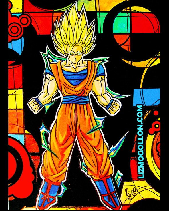 """Dragon Ball"" Manga Pop art  by: Liz Mogollon  Acrylic/Canvas  here you can see the porcess of this painting: http://www.youtube.com/watch?v=bQu14Hj3d8M=UUvEuDO4OEVQOnD4HxXysdCQ=1=plcp"