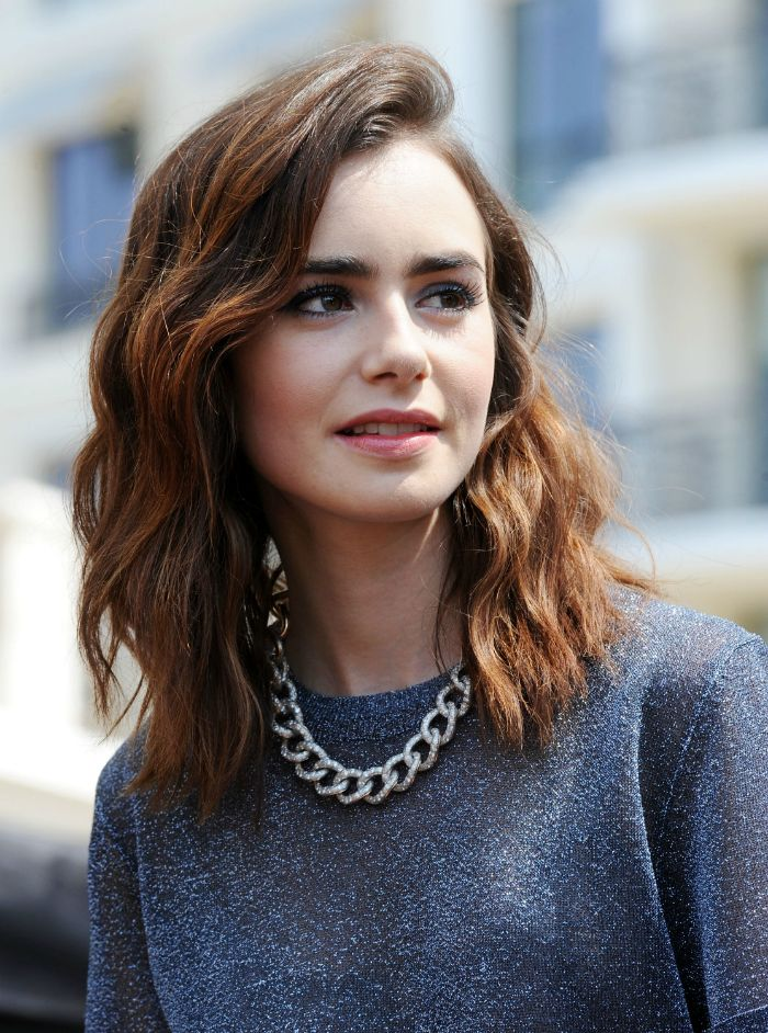 4 Hairstyles of the '90s Rocked by Lily Collins  |  ModernSalon.com