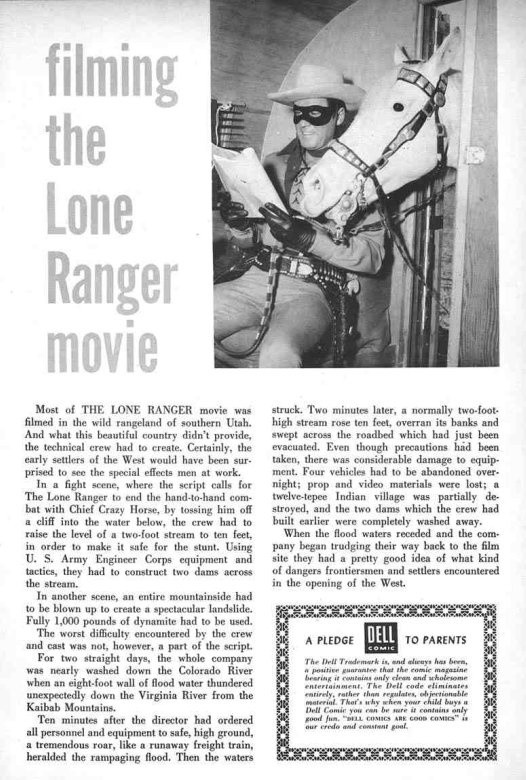 Filming the Lone Ranger Movie
