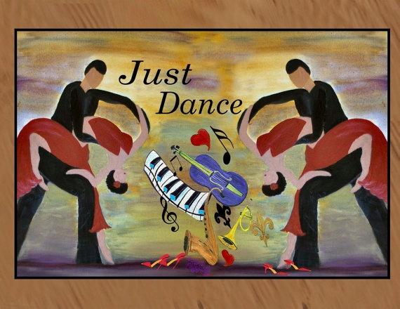Just Dance indoor / outdoor floor mat by maremade on Etsy, $59.99