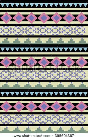 Ethnic geometric pattern - stock vector