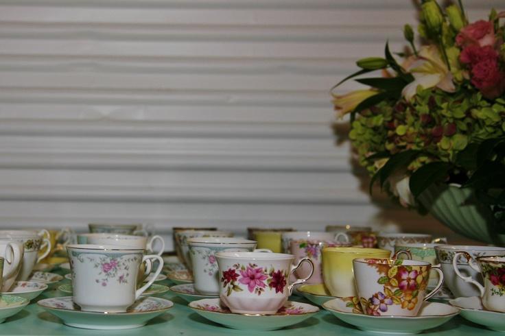 Wedding teacups.