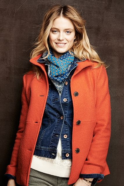 Amazingly, this is from Land's End!  Love the layers and colors~  http://www.refinery29.com/old-brands-new-looks#slide17  Land's End